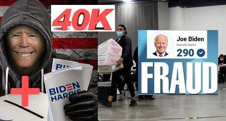 Nueva demanda mas de 40 mil votos fraudulentos para Biden