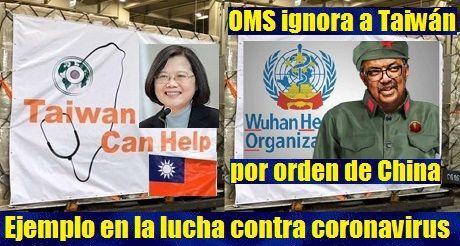 OMS ignora a Taiwán en la lucha contra el coronavirus por orden de China