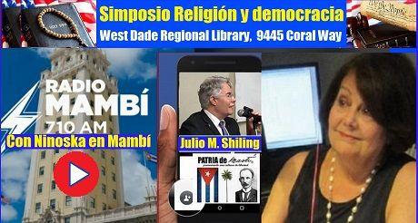 Religión y democracia con Ninoska en Mambí