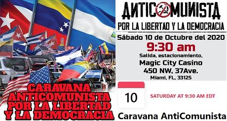 Respaldo Internacional a Caravana Anticomunista