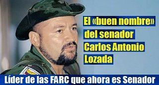 Líder de las FARC que ahora es Senador