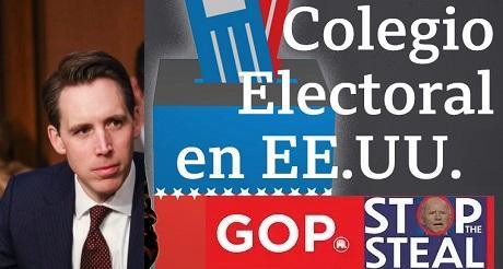 Senador Hawley primero en declarar que impugnara resultados del colegio electoral