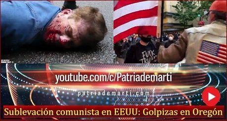 Sublevación comunista en EEUU: Golpizas en Oregón