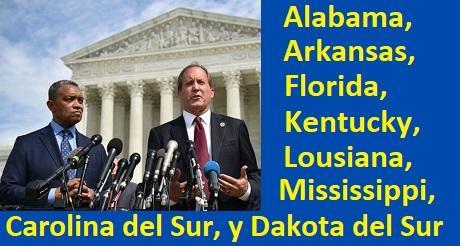 Texa y 7 otros estados demandan en corte