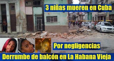 Cuba: Mueren tres niñas tras derrumbe de un balcón