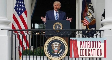 Trump firma orden ejecutiva promoviendo educación patriótica cívica