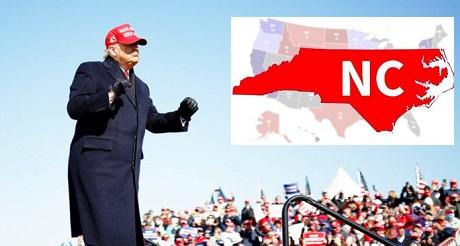 Trump gana Carolina del Norte