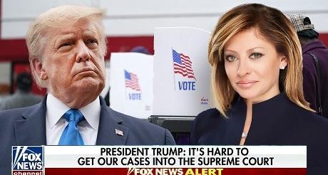Trump habla en entrevista sobre fraude electoral