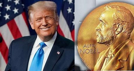 Trump nominado al Premio Nobel de la Paz