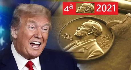 Trump nominado por 4a vez a Premio Nobel de Paz
