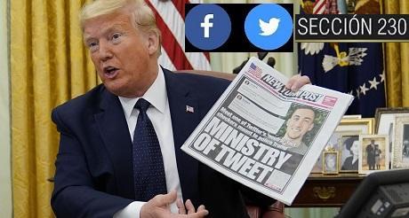 Trump vetará ley de defensa si no le quita inmunidad a FB y Twitter