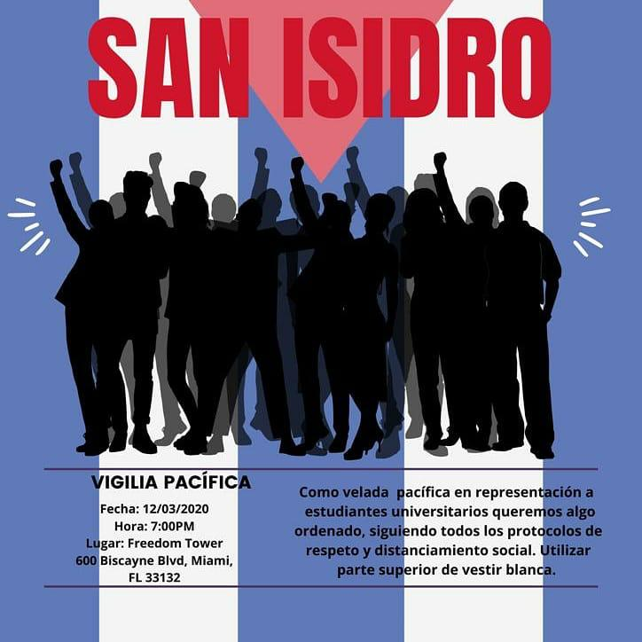 Vigilia pacifica Movimiento San Isidro