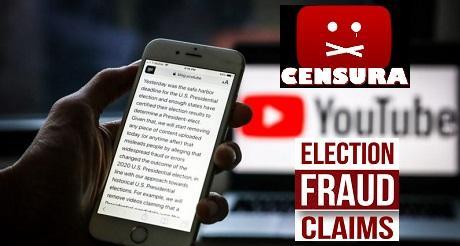 YouTube busca censurar videos sobre fraude electoral