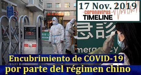 encubrimiento de COVID-19 por parte del régimen chino
