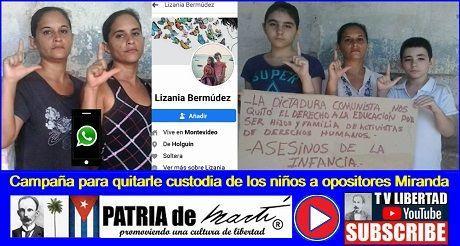 Campaña para quitarle custodia de los niños a opositores Miranda