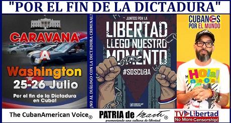 CARAVANA POR EL FIN DE LA DICTADURA organizada por Otaola