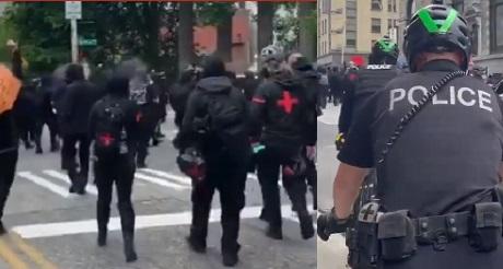 Crimenes de Antifa Primero de Mayo incluyeron agresion a nino