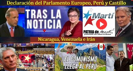 Declaración del Parlamento Europeo, Perú y Castillo, Nicaragua, Venezuela e Irán