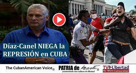 Diaz Canel NIEGA la REPRESION de las Protestas en Cuba