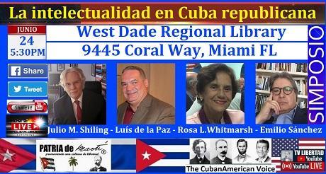 Invitación Simposio La intelectualidad en Cuba republicana