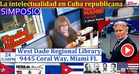 Julio con Ninoska en Mambí Simposio La Intelectualidad en Cuba Republicana