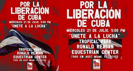 Manifestacion en el Tropical Park por La Liberacion de Cuba