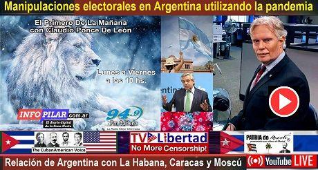 Manipulaciones electorales Argentina utilizando la pandemia