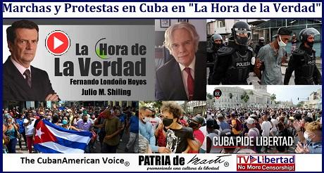 Marchas y Protestas en Cuba en La Hora de la Verdad
