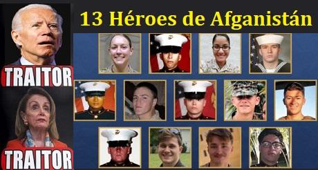 Pelosi se niega a leer los nombres de los 13 soldados caídos en Afganistan y elogia a Biden