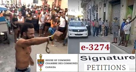 Peticion e 3274 Canadienses exigen defensa de los derechos humanos en Cuba