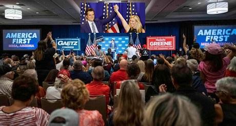 Reunion de representantes del Congreso republicano de MAGA en America