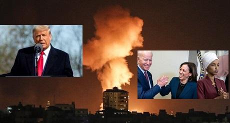 Trump culpa a Biden Harris de los ataques a Israel