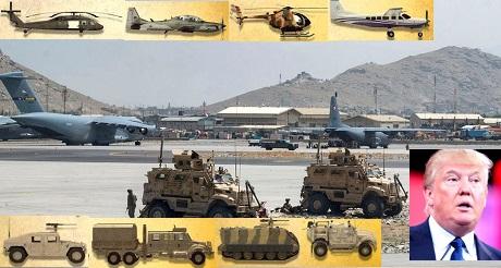 Trump propone bombardear los talibanes si no devuelven el armamento de EEUU