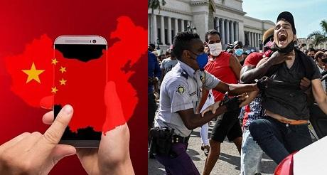 cuba utiliza sistemas chinos para bloquear internet en las protestas