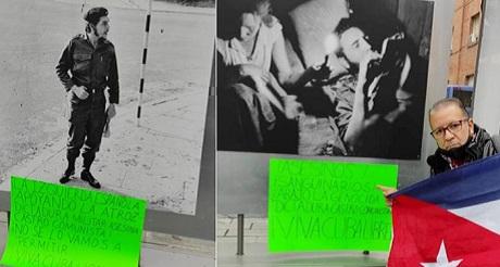 cubanos en espana protestan exhibicion sobre el asesino che