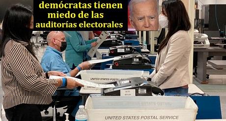 democratas tienen miedo de auditorias electorales