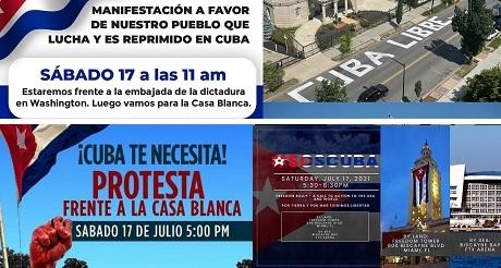 manifestaciones por la libertad de cuba a traves de eeuu