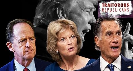 45 senadores republicanos impeachment a Trump es inconstitucional