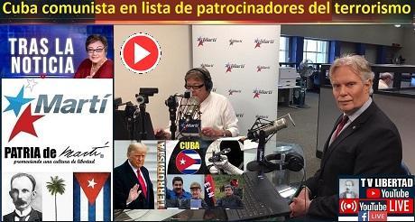 Cuba comunista en lista de patrocinadores del terrorismo