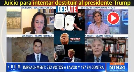 Debate Juicio para intentar destituir al presidente Trump