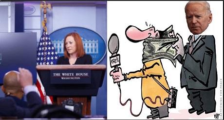 Equipo de prensa Biden pide preguntas previamente