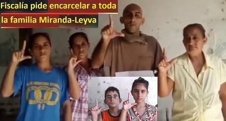 Fiscalia pide encarcelar a toda la familia Miranda Leyva