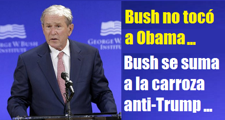Bush En La Carroza Anti Trump