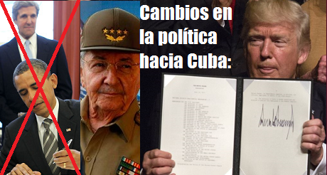 cambios de Trump en política hacia Cuba