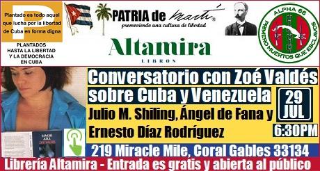 Conversatorio con Zoé Valdés sobre Cuba y Venezuela