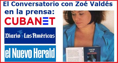 El Conversatorio con Zoé Valdés en la prensa