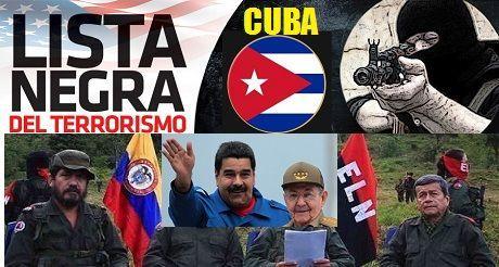 Cuba regresa a Lista Negra del Terrorismo