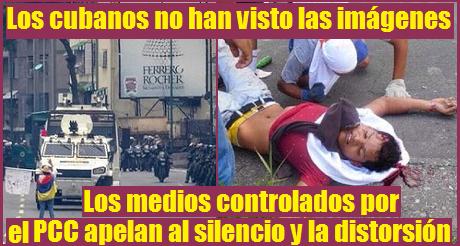 Cubanos no han visto las imágenes de Venezuela