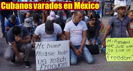 Cubanos varados en Mexico