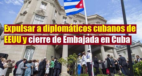 Senadores piden expulsar a diplomáticos cubanos de EEUU y cierre de Embajada en Cuba